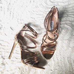 Steve Madden Rose Gold Santi Stiletto Sandal 6.5
